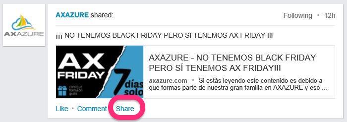 ¡¡¡No tenemos black friday pero sí tenemos ax friday!!! Axazure