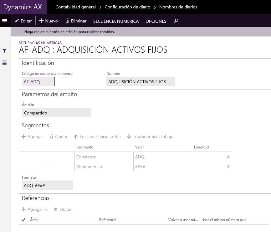 Adquisición de un Activo Fijo en el Nuevo Dynamics AX (AX7) Axazure