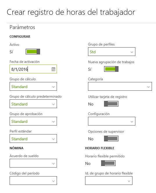 Tiempo y Asistencia en AX7: Configuración Básica - Parte I