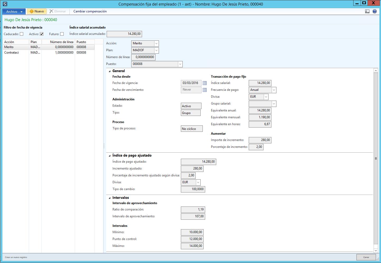 Planes de Compensación Fijos en Dynamics AX 2012 R3 (Parte II)