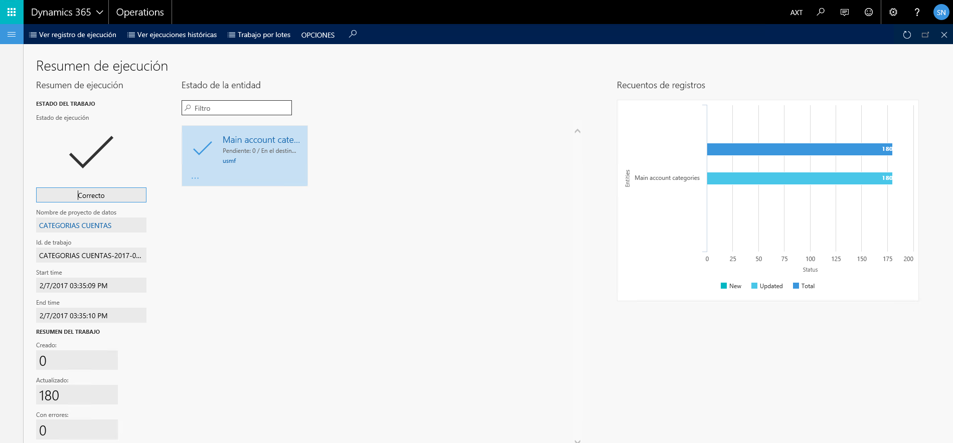 Data Management en Dynamics 365 for Operations: Importación de datos maestros