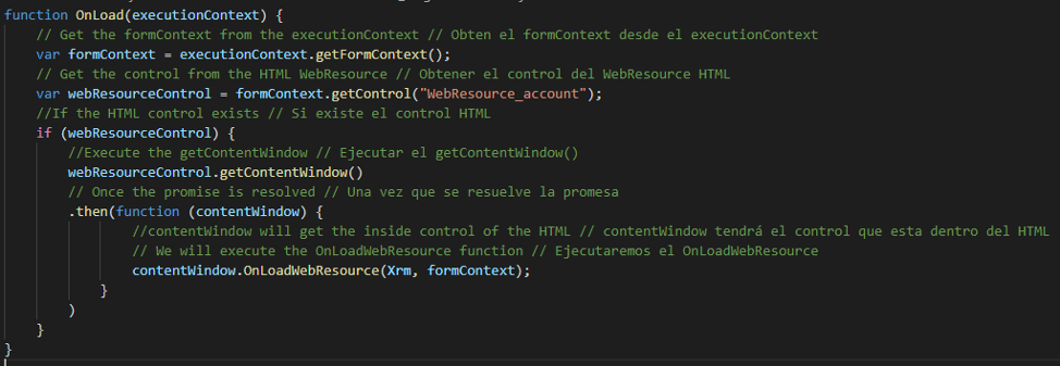 Cómo obtener el formContext y el Xrm en tu HTML Web Resource sin el parent.Xrm (deprecated) Axazure