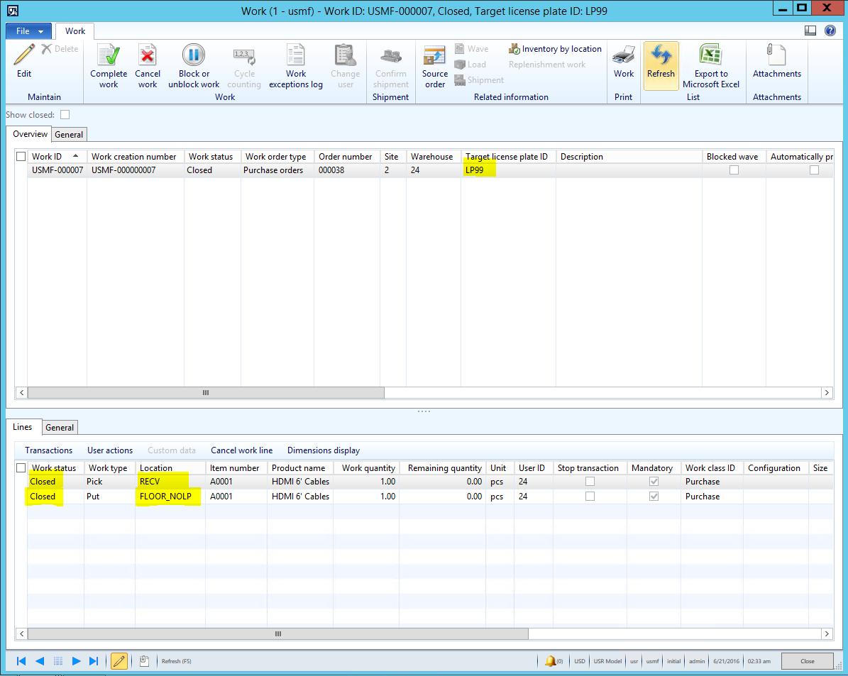Uso del módulo de almacenes avanzados en AX 2012 R3 sin usar Matrículas de Almacén (Pallets) Axazure