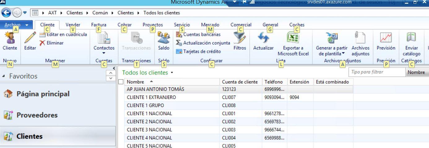 Atajos de Teclado en Formularios de Dynamics AX 2012 R3