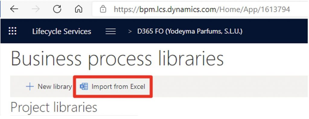 Business Process Modeler, add libraries from Excel. Axazure