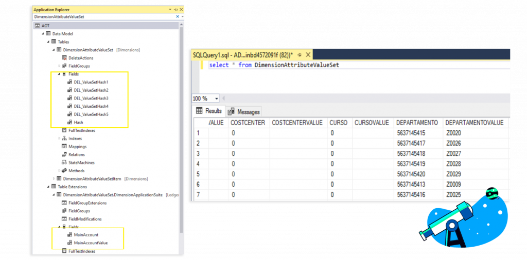 Show dimensions in a form without adding table fields Axazure