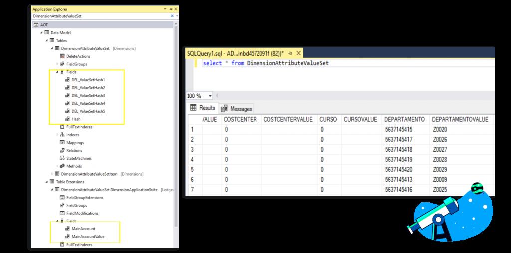 Sacar dimensiones en un formulario, sin crear nuevos campos en tablas. Axazure