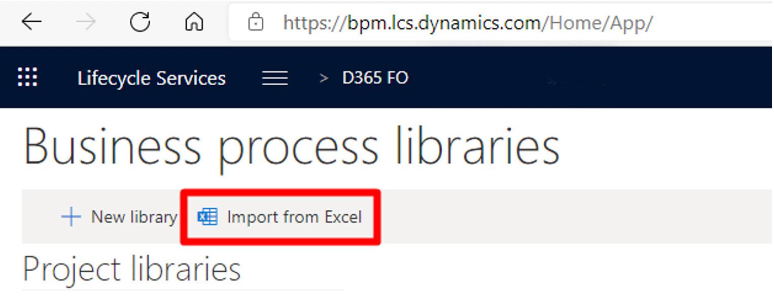 Business Process Modeler, añadir librerías desde Excel. Axazure